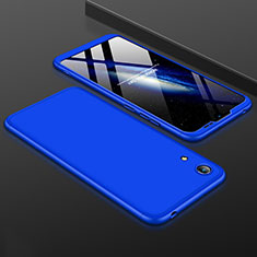 Coque Plastique Mat Protection Integrale 360 Degres Avant et Arriere Etui Housse pour Huawei Honor 8A Bleu