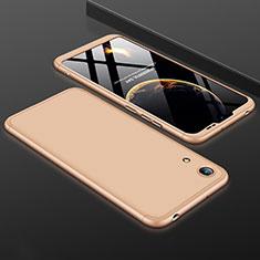 Coque Plastique Mat Protection Integrale 360 Degres Avant et Arriere Etui Housse pour Huawei Honor 8A Or