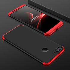 Coque Plastique Mat Protection Integrale 360 Degres Avant et Arriere Etui Housse pour Huawei Honor 9 Lite Rouge et Noir