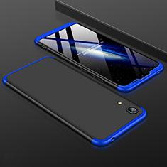 Coque Plastique Mat Protection Integrale 360 Degres Avant et Arriere Etui Housse pour Huawei Honor Play 8A Bleu et Noir