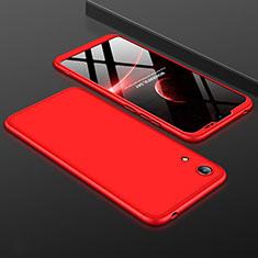Coque Plastique Mat Protection Integrale 360 Degres Avant et Arriere Etui Housse pour Huawei Honor Play 8A Rouge