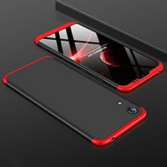 Coque Plastique Mat Protection Integrale 360 Degres Avant et Arriere Etui Housse pour Huawei Honor Play 8A Rouge et Noir