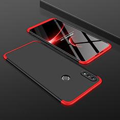 Coque Plastique Mat Protection Integrale 360 Degres Avant et Arriere Etui Housse pour Huawei Honor V10 Lite Rouge et Noir