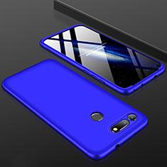 Coque Plastique Mat Protection Integrale 360 Degres Avant et Arriere Etui Housse pour Huawei Honor V20 Bleu
