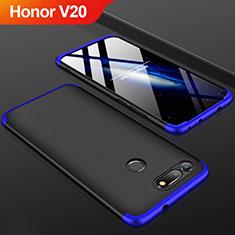 Coque Plastique Mat Protection Integrale 360 Degres Avant et Arriere Etui Housse pour Huawei Honor V20 Bleu et Noir