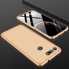 Coque Plastique Mat Protection Integrale 360 Degres Avant et Arriere Etui Housse pour Huawei Honor V20 Or