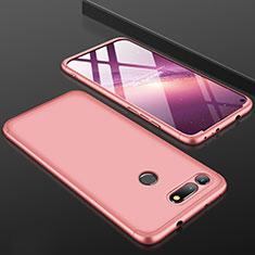 Coque Plastique Mat Protection Integrale 360 Degres Avant et Arriere Etui Housse pour Huawei Honor V20 Or Rose