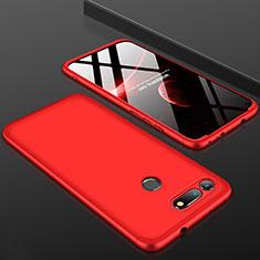 Coque Plastique Mat Protection Integrale 360 Degres Avant et Arriere Etui Housse pour Huawei Honor V20 Rouge