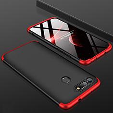 Coque Plastique Mat Protection Integrale 360 Degres Avant et Arriere Etui Housse pour Huawei Honor V20 Rouge et Noir