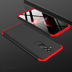 Coque Plastique Mat Protection Integrale 360 Degres Avant et Arriere Etui Housse pour Huawei Mate 20 Lite Rouge et Noir