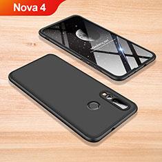 Coque Plastique Mat Protection Integrale 360 Degres Avant et Arriere Etui Housse pour Huawei Nova 4 Noir