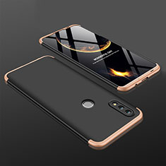 Coque Plastique Mat Protection Integrale 360 Degres Avant et Arriere Etui Housse pour Huawei Nova Lite 3 Or et Noir