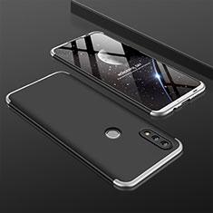 Coque Plastique Mat Protection Integrale 360 Degres Avant et Arriere Etui Housse pour Huawei P Smart (2019) Argent