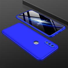 Coque Plastique Mat Protection Integrale 360 Degres Avant et Arriere Etui Housse pour Huawei P Smart (2019) Bleu