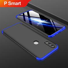 Coque Plastique Mat Protection Integrale 360 Degres Avant et Arriere Etui Housse pour Huawei P Smart (2019) Bleu et Noir