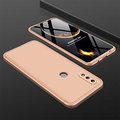 Coque Plastique Mat Protection Integrale 360 Degres Avant et Arriere Etui Housse pour Huawei P Smart (2019) Or