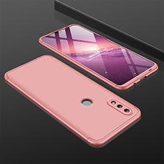 Coque Plastique Mat Protection Integrale 360 Degres Avant et Arriere Etui Housse pour Huawei P Smart (2019) Or Rose