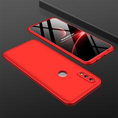 Coque Plastique Mat Protection Integrale 360 Degres Avant et Arriere Etui Housse pour Huawei P Smart (2019) Rouge