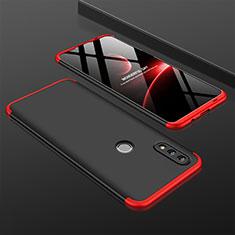 Coque Plastique Mat Protection Integrale 360 Degres Avant et Arriere Etui Housse pour Huawei P Smart (2019) Rouge et Noir