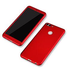 Coque Plastique Mat Protection Integrale 360 Degres Avant et Arriere Etui Housse pour Huawei P Smart Rouge