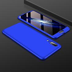 Coque Plastique Mat Protection Integrale 360 Degres Avant et Arriere Etui Housse pour Huawei P20 Bleu