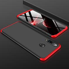 Coque Plastique Mat Protection Integrale 360 Degres Avant et Arriere Etui Housse pour Huawei P30 Lite Rouge et Noir