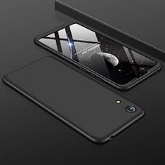 Coque Plastique Mat Protection Integrale 360 Degres Avant et Arriere Etui Housse pour Huawei Y6 (2019) Noir
