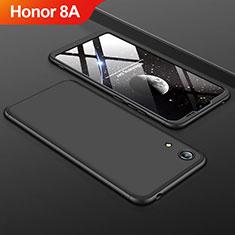 Coque Plastique Mat Protection Integrale 360 Degres Avant et Arriere Etui Housse pour Huawei Y6 Prime (2019) Noir