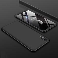Coque Plastique Mat Protection Integrale 360 Degres Avant et Arriere Etui Housse pour Huawei Y7 (2019) Noir