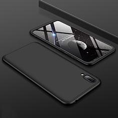 Coque Plastique Mat Protection Integrale 360 Degres Avant et Arriere Etui Housse pour Huawei Y7 Prime (2019) Noir