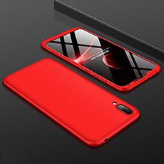 Coque Plastique Mat Protection Integrale 360 Degres Avant et Arriere Etui Housse pour Huawei Y7 Prime (2019) Rouge
