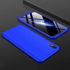 Coque Plastique Mat Protection Integrale 360 Degres Avant et Arriere Etui Housse pour Huawei Y7 Pro (2019) Bleu
