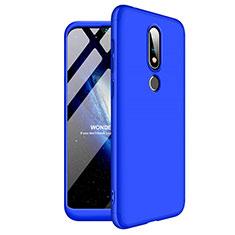 Coque Plastique Mat Protection Integrale 360 Degres Avant et Arriere Etui Housse pour Nokia 6.1 Plus Bleu