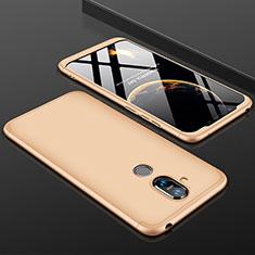 Coque Plastique Mat Protection Integrale 360 Degres Avant et Arriere Etui Housse pour Nokia 7.1 Plus Or