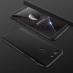 Coque Plastique Mat Protection Integrale 360 Degres Avant et Arriere Etui Housse pour OnePlus 5T A5010 Noir