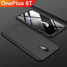 Coque Plastique Mat Protection Integrale 360 Degres Avant et Arriere Etui Housse pour OnePlus 6T Noir