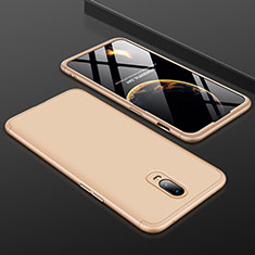 Coque Plastique Mat Protection Integrale 360 Degres Avant et Arriere Etui Housse pour OnePlus 6T Or