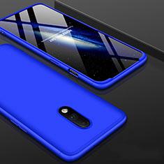 Coque Plastique Mat Protection Integrale 360 Degres Avant et Arriere Etui Housse pour OnePlus 7 Bleu