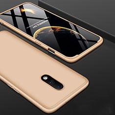Coque Plastique Mat Protection Integrale 360 Degres Avant et Arriere Etui Housse pour OnePlus 7 Or