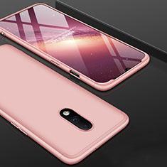 Coque Plastique Mat Protection Integrale 360 Degres Avant et Arriere Etui Housse pour OnePlus 7 Or Rose