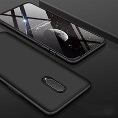Coque Plastique Mat Protection Integrale 360 Degres Avant et Arriere Etui Housse pour OnePlus 7 Pro Noir
