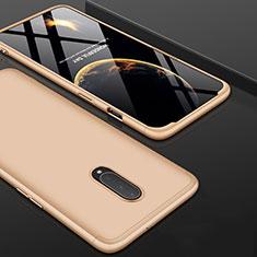 Coque Plastique Mat Protection Integrale 360 Degres Avant et Arriere Etui Housse pour OnePlus 7 Pro Or