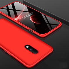 Coque Plastique Mat Protection Integrale 360 Degres Avant et Arriere Etui Housse pour OnePlus 7 Rouge