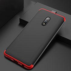 Coque Plastique Mat Protection Integrale 360 Degres Avant et Arriere Etui Housse pour Realme X Rouge et Noir