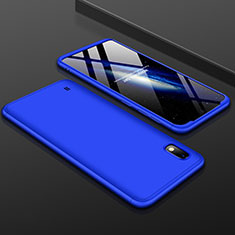 Coque Plastique Mat Protection Integrale 360 Degres Avant et Arriere Etui Housse pour Samsung Galaxy A10 Bleu