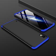 Coque Plastique Mat Protection Integrale 360 Degres Avant et Arriere Etui Housse pour Samsung Galaxy A10 Bleu et Noir