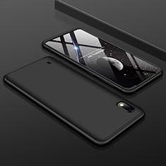 Coque Plastique Mat Protection Integrale 360 Degres Avant et Arriere Etui Housse pour Samsung Galaxy A10 Noir