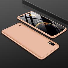 Coque Plastique Mat Protection Integrale 360 Degres Avant et Arriere Etui Housse pour Samsung Galaxy A10 Or