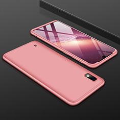 Coque Plastique Mat Protection Integrale 360 Degres Avant et Arriere Etui Housse pour Samsung Galaxy A10 Or Rose