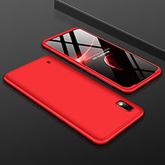 Coque Plastique Mat Protection Integrale 360 Degres Avant et Arriere Etui Housse pour Samsung Galaxy A10 Rouge